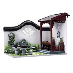 Mini Dollhouse - Cute Room - Chinese Courtyard / binnenplaats (Deel B)