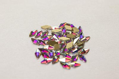 Ruitje 6 mm Crystal AB Non hotfix Rhinestones figuren Superior Glamour kwaliteit