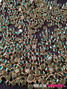 hotfix trim ss 16 kleur goud aquamarine