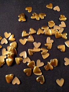 hotfix nailheads kleur goud hart klein