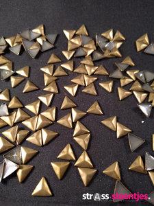 hotfix studs figuur driehoek 8 10 mm kleur brons