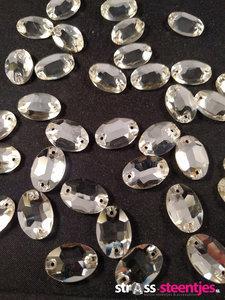 naaistenen ovaal kleur crystal klein