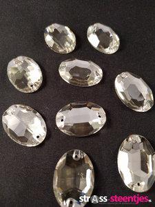 naaistenen ovaal kleur crystal