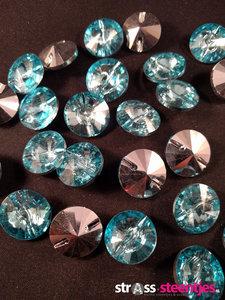 naaistenen rond kleur aquamarine