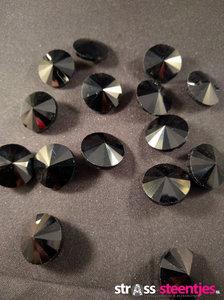 naaistenen rond kleur zwart