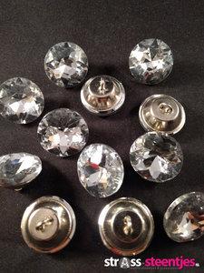 naaiknopen 23 mm crystal