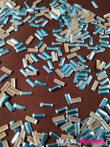 hotfix nailheads kleur blauw rechthoek
