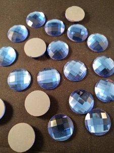 non hotfix plakstenen 18 mm kleur blauw