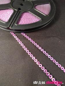 strijkbare pailletten op rol kleur rose
