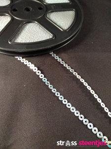 strijkbare pailletten op rol kleur zilver
