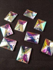 naaistenen rechthoek kleur crystal ab