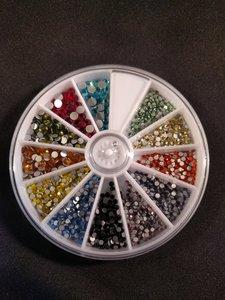 Nagel steentjes carrousel diverse kleuren en maten