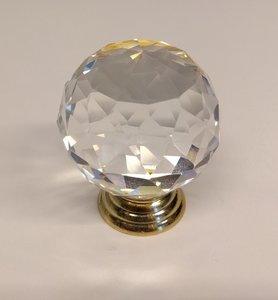 Deurknoppen 40 mm Gouden voet Kleur Crystal