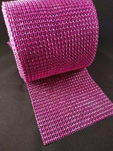 non hotfix mesh rol kleur fuchsia