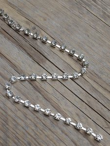 Strassketting 5 mm Crystal Silver Cup