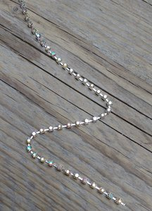 Strassketting 3 mm Crystal AB Silver Cup