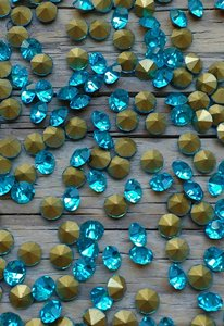 Aquamarine SS6 Pointed Back Rhinestones