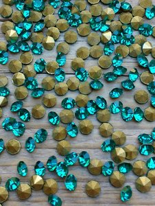 Blue Zircon SS20 Pointed Back Rhinestones
