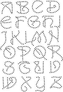 Hotfix Patronen - Patroon Alfabet sierlijke hoofdletters.