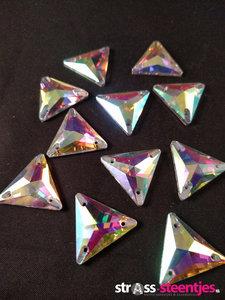 naaistenen driehoek kleur crystal ab