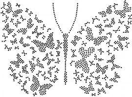 Hotfix Patroon - Vlinder die bestaat uit kleinere vlinders