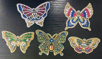 Diamond Painting Sleutelhangers Vlinders (Set 5 stuks)