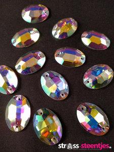 naaistenen ovaal kleur crystal ab