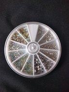 Nagel steentjes carrousel Crystal en Crystal AB
