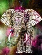 Versierde olifant 30X40