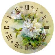 Diamond Painting pakket - Klok met witte bloemen en een kolibrie 40x40 cm
